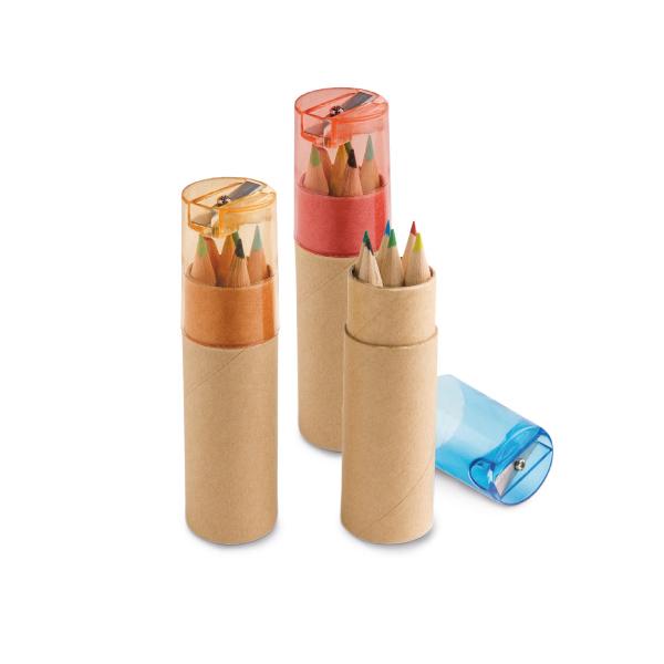 Caja con 6 lápices de color