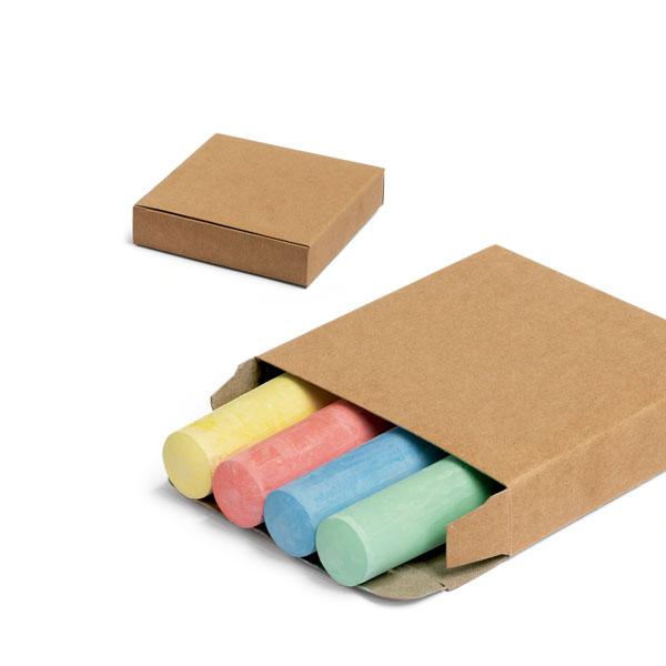 Caja con 4 barras de tiza