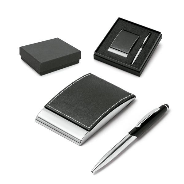 Set de bolígrafo y tarjetero